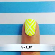 "Nail DIY tutorial. By @kt_tk1 ESPAÑOL AL FINAL❗️❗️❗️ . TUTORIAL  design inspired by the lovely and talented @melcisme  . Materials 1⃣ ""copabikini"" from Samba Collection of @ellamilapolish 2⃣white nail polish 3⃣tape (amazon- nail/beauty store) . .steps. . 1⃣apply top coat over white and wait until it is completely dry 2⃣place the tape as shown in the video 3⃣apply the nail polish 4⃣remove the tape as soon as possible 5⃣wait a few minutes and finish with a topcoat ----------☀️☀️☀️☀️-------- SO..."