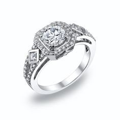 This design is built for a 1.00 carat diamond. This ring can be modified. #michaelscreativejewelry #vintage #diamondengagementring
