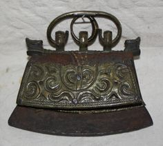 antique Mongolian flint strike pouch aka strike-a-light