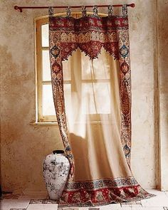 <3 the curtains Have you ever used patterned curtains? These are beautiful.