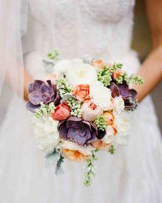 24 Succulent Wedding Bouquets | Martha Stewart Weddings