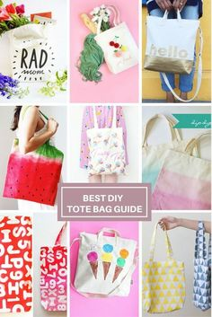 Best round-up to customize a blank canvas tote bag. DIY blank canvas tote bag decorating and design ideas and tutorials for inspiration. Cool Diy, Diy Canvas, Blank Canvas, Diy Tote Bag, Kids Bags, Diy Fashion, Fashion Tips, Fashion Ideas, Fashion Jewelry