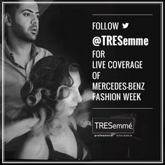 We're the official haircare sponsor for @Mercedes-Benz Fashion Week for the 10th season starting tomorrow! Stay tuned! #TRESmbfw #mbfw #fall2013 #fashionweek #hairstyles #tresemme