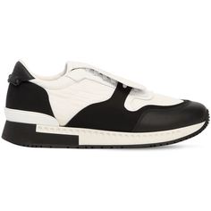 Givenchy Men Nylon & Leather Running Sneakers (3,050 SAR) ❤ liked on Polyvore featuring men's fashion, men's shoes, men's sneakers, mens shoes, givenchy mens sneakers, mens rubber sole shoes, mens sneakers and givenchy mens shoes