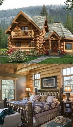 Want to buy or build a log cabin? This article will explain why log cabins are actually a practical and reasonable choice for homeowners. Log Cabin Living, Log Cabin Homes, Log Cabins, Rustic Cabins, How To Build A Log Cabin, Log Home Designs, Cabin In The Woods, Timber House, Cabins And Cottages