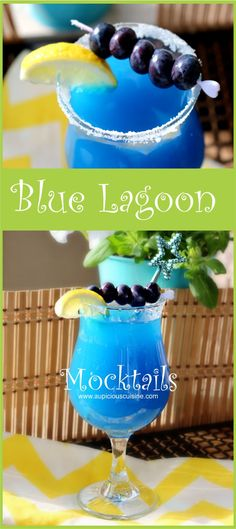 Now keep in Spike your Blue Lagoon Mocktail to make it the real thing with rum or vodka, totally up to you. Serve the beverage in a fancy drinking glass and put sugar on the rim for effect.