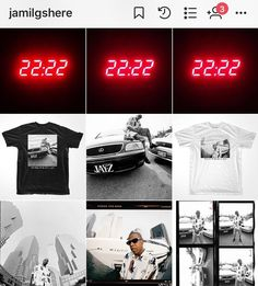 I looked up at the clock three nights in a row and it was 22:22 . I posted this about a year ago just after I had released my #jayz tshirt collabo w @atw_brand on the twentieth #anniversary of my first shoot w the young #hova and I didn't know about #444 but what are the chances. #synchronicity #random #funnyshit #reasonabledoubt