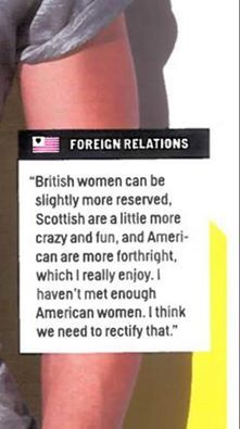 """Laurel Scott Sheppard - Outlander Series """"I took a screen shot of this quote from our lovely Sam from April's (2015) Cosmopolitan Mag--I almost melted when I read this..."""""""