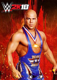 f6e64e64 WWE 2K18 Poster Kurt Angle, Wwe Superstars, Video Game Posters, Video Games,