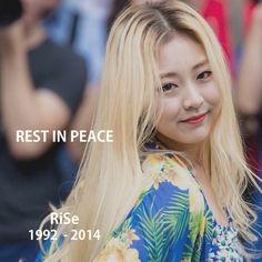 Ladies' Code RiSe passed away too :( how sad. RIP RiSe and EunB