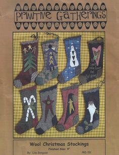 Primitive Gatherings Wool Christmas Stockings Quilt Kit