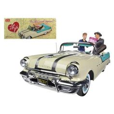 1955 Pontiac Star Chief I Love Lucy On The Road Again with figurine 1/18 Diecast Car Model by Sunstar