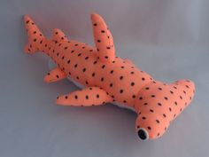 Hammerhead Shark Plush Toy, Stuffed Animal, Sock Monkey, Stuffed Toy on Etsy, $29.98