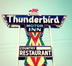 Love that vintage signage.