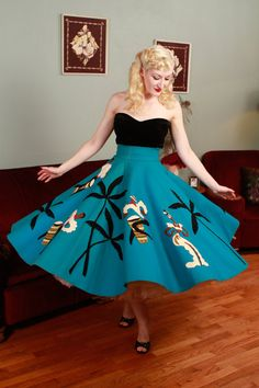 Vintage+1950s+Skirt++Authentic+Juli+Lynne+Charlot+by+FabGabs,+$600.00