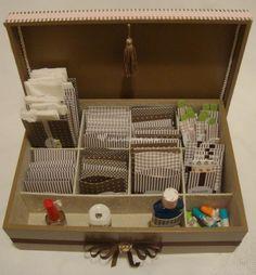 Caixa lavavo com kit lavabo de Atelier Cicera Bagatin