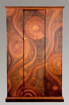 Amazing work by D.R. Coble and Company....love the grain painting on this beautiful cupboard