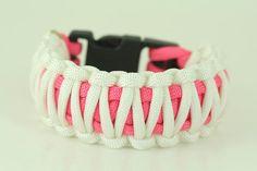 king cobra pink and white Paracord bracelet