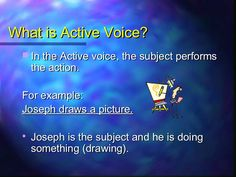 Passive VoiceUniversity Learning Center UP: PC 247 / BB: ACI 160 Developed by Jeniffer Viscarra Active And Passive Voice, Active Voice, Writing Strategies, Education English, Lose My Mind, Learning Centers, Pictures To Draw, English Language, Grammar