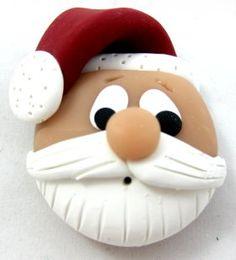 Super Cute Handmade Polymer Clay Santa Tutorial.