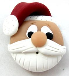 Super Cute Handmade Polymer Clay Santa Tutorial.