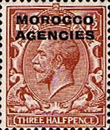 Morocco Agencies British Currency 1925 SG 55 Fine Used Scott 220 Other Morocco Agencies Stamps HERE