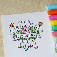 DOODLES - ZENTANGLES - Good morning