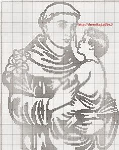 He tried to cover up his brilliant intellect. patron saint f lost articles , he hailed from Lisbon, Portugal , great Franciscan saint, Feast day June Anthony of Padua Cross Stitch Tree, Simple Cross Stitch, Cross Stitch Patterns, Crochet Patterns, Saint Anthony Of Padua, Filet Crochet Charts, Crochet Round, Cross Stitch Designs, Cross Stitching