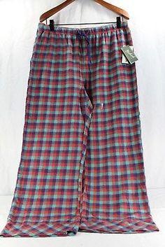 758bad8054 Woolrich Pemberton Lounge Pant XL Women s Sleepwear Red Green Purple Plaid  NWT