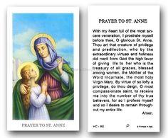Prayer to st ann