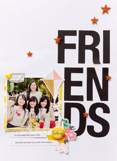 Papercrafting ideas: scrapbook layout idea. #papercraft #scrapbooking #layouts. Friends forever by evelynpy original