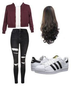 """Outfit for school"" by mikayla714 on Polyvore featuring MANGO, New Look, Topshop and adidas Originals"