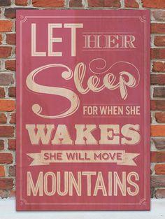 Let Her Sleep Vintage Wooden Sign by WordsOnWood11 on Etsy