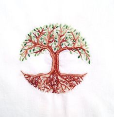 Tree of Life Hand Embroidery Pattern PDF – broderie à la main Embroidery Transfers, Hand Embroidery Designs, Embroidery Stitches, Embroidery Patterns, Machine Embroidery, Etsy Embroidery, Embroidery Supplies, Tree Patterns, Silk Ribbon Embroidery
