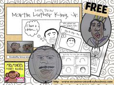 Great MLK activities.  Mrs. Miner's Kindergarten Monkey Business: FREE Directed Drawing Kit: Martin Luther King Jr & MORE