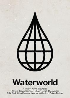 'Waterworld' pictogram movie poster by Victor Hertz