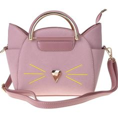 QZUnique Women's Summer Fashion Top Handle Cute Cat Cross Body... (1,180 DOP) ❤ liked on Polyvore featuring bags, handbags, shoulder bags, shoulder handbags, cat purse, cat handbags, purple purse and purple handbags