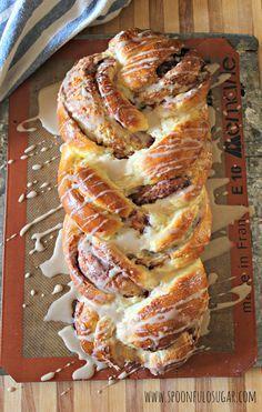 Cinnamon Roll Braided Bread | Spoonful of Sugar