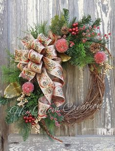 Fruit Christmas Wreath Traditional Christmas wreath for front door Classic Christmas wreath Holiday door wreath Christmas Wreaths For Front Door, Burlap Christmas, Christmas Balls, Holiday Wreaths, Christmas Crafts, Christmas Ornaments, Christmas Ideas, Vintage Christmas, Winter Wreaths
