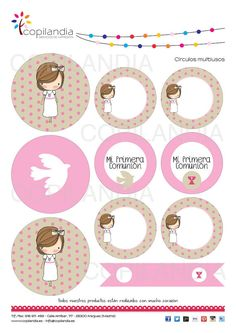 First Communion Kit Printable di Kissthefrogeventos su Etsy: Printable Labels, Party Printables, Baptism Invitations, Flag Banners, First Holy Communion, Print Patterns, Place Cards, Etsy, Christening
