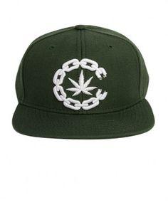 Crooks & Castles - High C Snapback Cap (Green) - $32