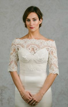 Lace Bridal Bolero Topper By Alisabenay