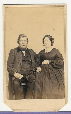 Mr. & Mrs. Wolcott Chaffer, Ravina Ohio, 1863. Photographer JC Spooner, Picture Palace,  Springfield Mass