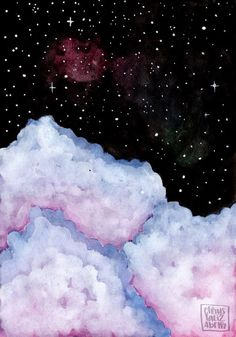 Clouds & Sky - Inspired by Ana Victoria Calderon | Watercolor | Art | chrystalizabeth