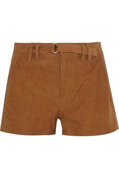 FRAME - Suede Shorts - Camel - 24