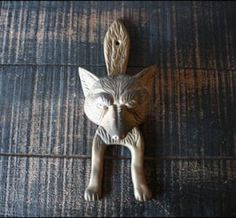 the ole fox knocker; I found one of these on ebay and have it hanging in the house. I love this little guy