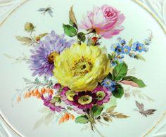 Meissen Schale Naturalistische Blumenmalerei Reliefrand in Antiquitäten & Kunst, Porzellan & Keramik, Porzellan | eBay!