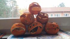 Dried oranges become miniature eternal halloween pumpkins.