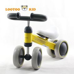 Alibaba cheap price CE steel kids balance bike /baby scooter with 4 wheels