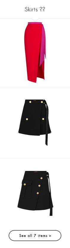 """""""Skirts 💃🏻"""" by layalaalsultan ❤ liked on Polyvore featuring skirts, bottoms, red, high rise skirts, high-waist skirt, slit skirt, red high waisted skirt, high-waisted skirt, mini skirts and wool skirt"""
